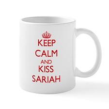 Keep Calm and Kiss Sariah Mugs