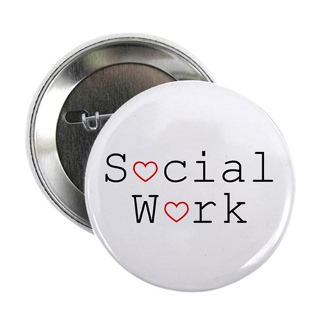 Social Work Hearts Buttons (10 pack)