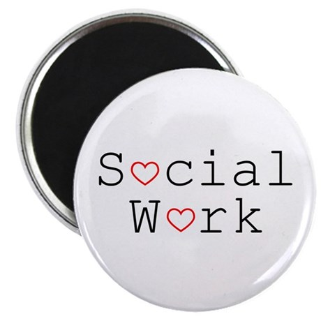 Social Work Hearts Magnets (10 pack)