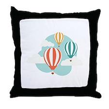 Hot Air Balloon Throw Pillow