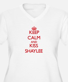 Keep Calm and Kiss Shaylee Plus Size T-Shirt