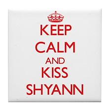 Keep Calm and Kiss Shyann Tile Coaster