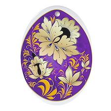 Ukrainian Egg - 4 - Ornament (Oval)
