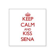 Keep Calm and Kiss Siena Sticker