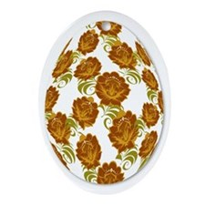 Flower Easter Egg 21B - Ornament (Oval)