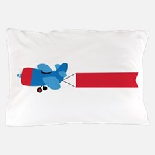 Airplane Banner Pillow Case