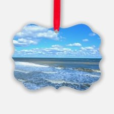 Seafoam waves Ornament