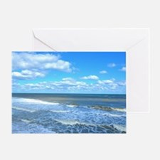 Seafoam waves Greeting Card
