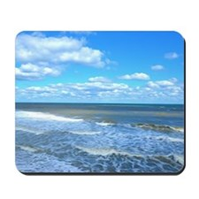 Seafoam waves Mousepad