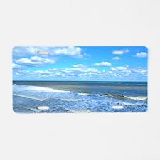 Seafoam waves Aluminum License Plate