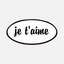 je t'aime I LOVE YOU in French Patches