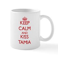 Keep Calm and Kiss Tamia Mugs