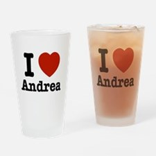 I love Andrea Drinking Glass