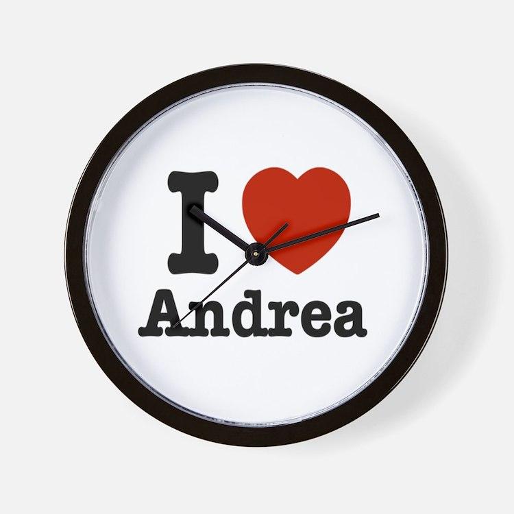 I love Andrea Wall Clock