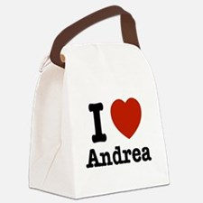 I love Andrea Canvas Lunch Bag
