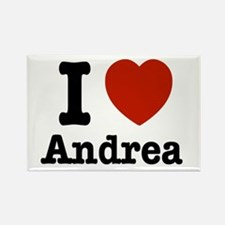 I love Andrea Rectangle Magnet