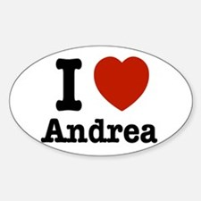 I love Andrea Sticker (Oval)