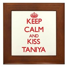 Keep Calm and Kiss Taniya Framed Tile