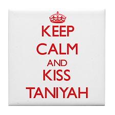 Keep Calm and Kiss Taniyah Tile Coaster