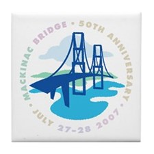 Mackinac Bridge Tile Coaster