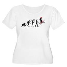 evolution BMX Bike trick jump Plus Size T-Shirt