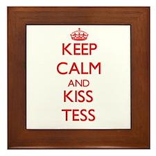 Keep Calm and Kiss Tess Framed Tile