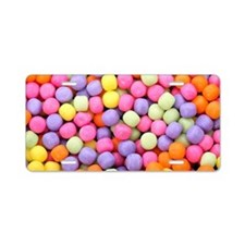 Colorful Candies  Aluminum License Plate