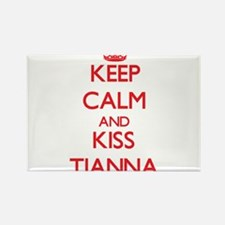 Keep Calm and Kiss Tianna Magnets