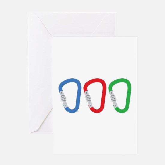 Carabiners Greeting Cards