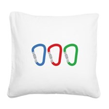 Carabiners Square Canvas Pillow
