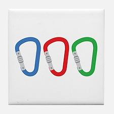 Carabiners Tile Coaster