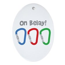 On Belay! Ornament (Oval)