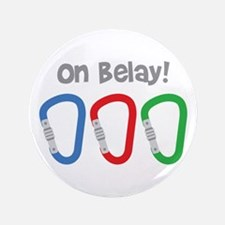 """On Belay! 3.5"""" Button"""