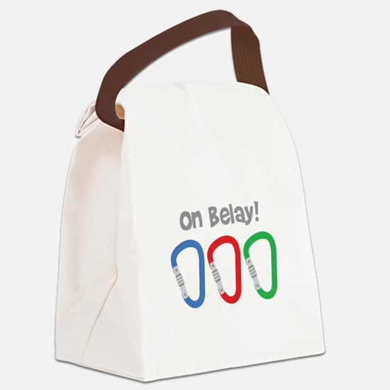 On Belay! Canvas Lunch Bag