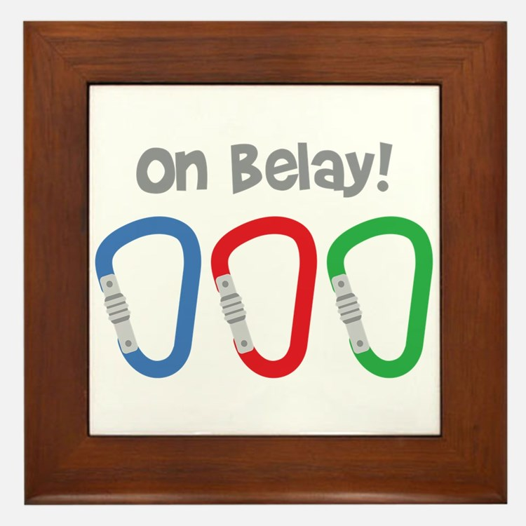 On Belay! Framed Tile