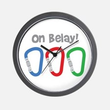 On Belay! Wall Clock
