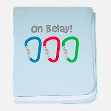 On Belay! baby blanket