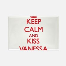 Keep Calm and Kiss Vanessa Magnets
