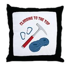CLIMBING TO THE TOP Throw Pillow