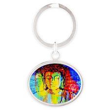 Lord Buddha Oval Keychain