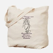 Compassionate conservative Tote Bag