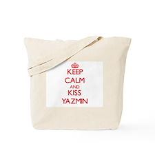 Keep Calm and Kiss Yazmin Tote Bag