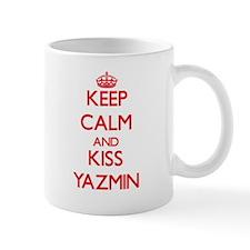 Keep Calm and Kiss Yazmin Mugs