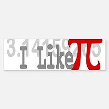 I Like Pi Geeky Bumper Bumper Bumper Sticker