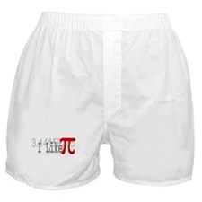 I Like Pi Geeky Boxer Shorts