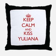 Keep Calm and Kiss Yuliana Throw Pillow