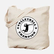 Volleyball Champion Tote Bag