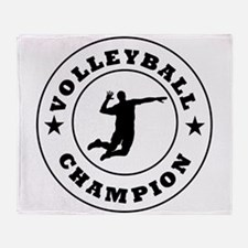Volleyball Champion Throw Blanket