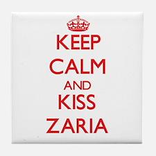 Keep Calm and Kiss Zaria Tile Coaster