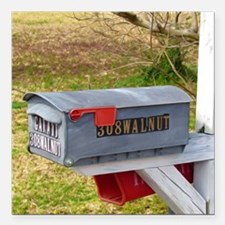 """Rural mail boxes Square Car Magnet 3"""" x 3"""""""